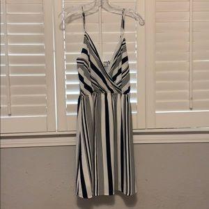 Navy Blue and White Nautical Stripe Summer Dress